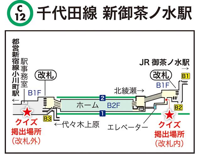 千代田線 新御茶ノ水駅