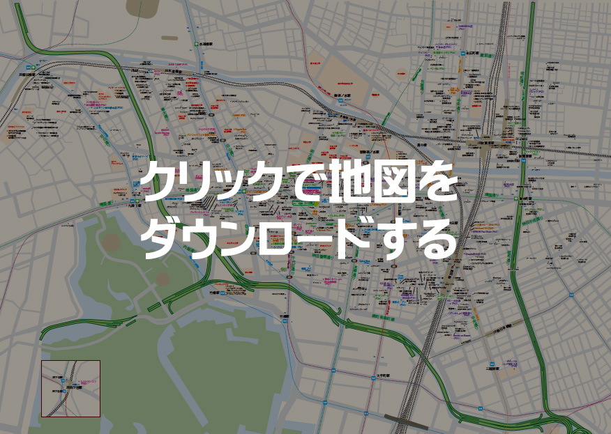 神田カレー街スタンプラリーの地図です